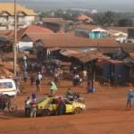 Vue du quartier Kountia CBA